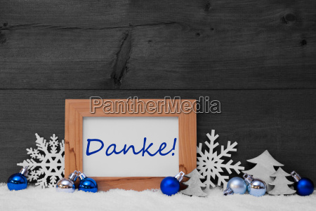 blue gray christmas decoration snow danke