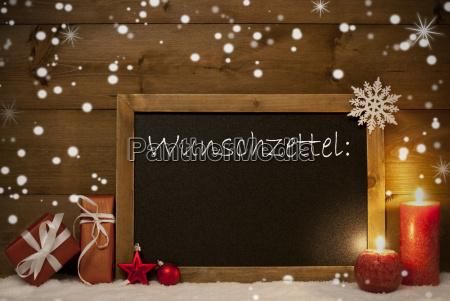 christmas card blackboard snowflakes wunschzettel wish