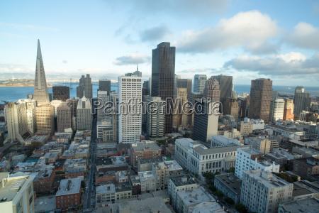 aerial views of san francisco financial