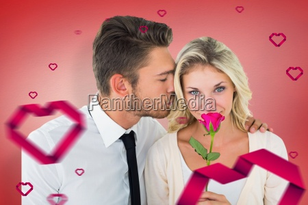 composite, image, of, handsome, man, kissing - 15300791