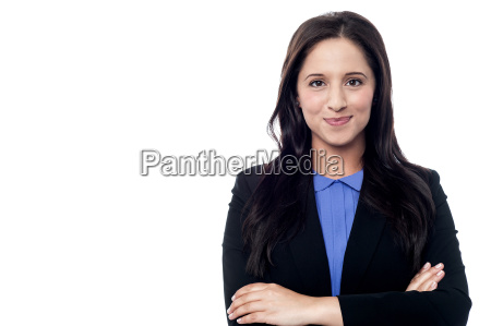 confident young smiling business woman