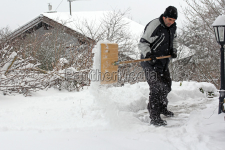 one man admits in heavy snow