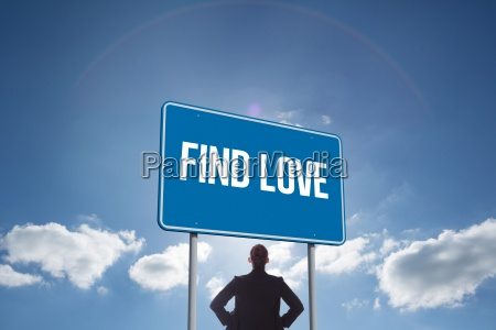 find love against cloudy sky with