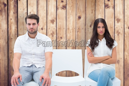 composite image of angry couple not
