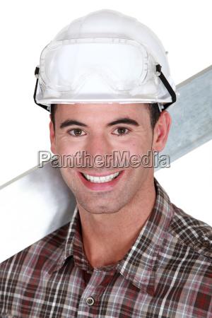 handsome craftsman smiling