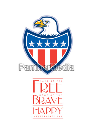 independence day greeting card american bald