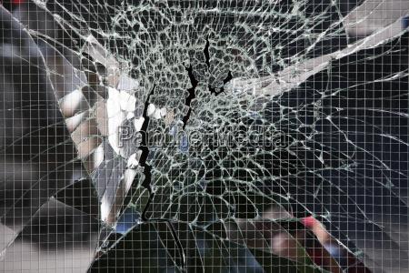 broken wire glass