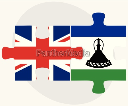 united kingdom and lesotho flags