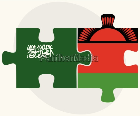 saudi arabia and malawi flags