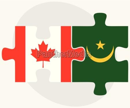 canada and mauritania flags