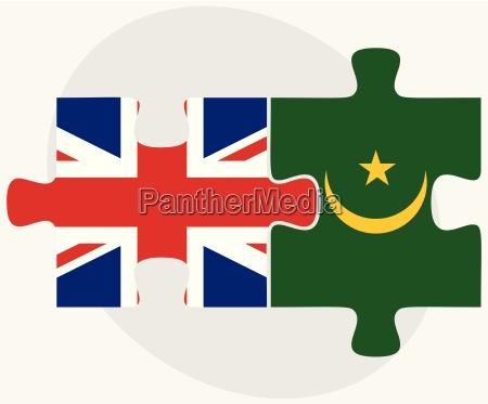 united kingdom and mauritania flags