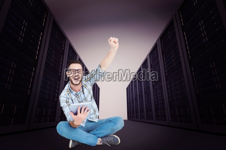 composite image of handsome hipster using