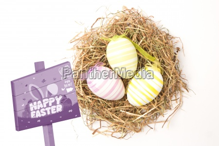 composite image of easter egg hunt