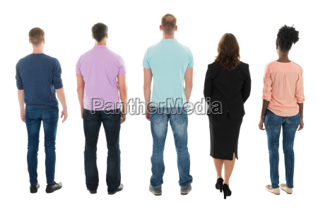 rear view of creative business people