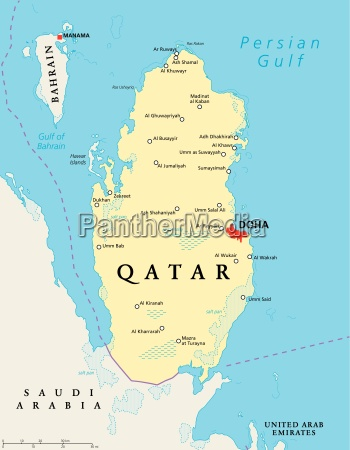qatar political map