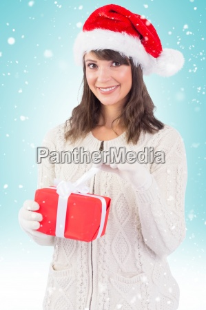 composite image of smiling young woman