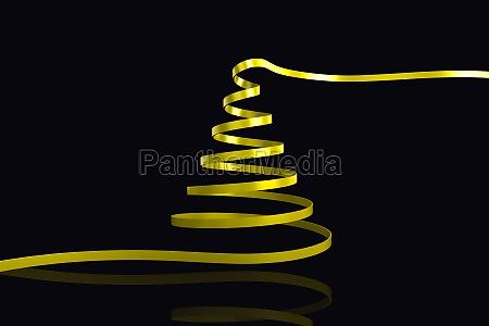 composite image of yellow christmas tree
