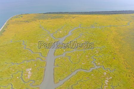 colorful estuary on a remote coast