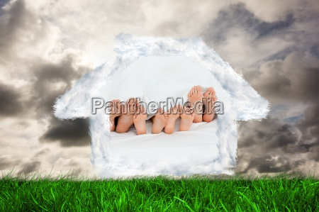 composite image of family on
