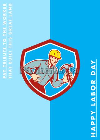 labor day greeting card builder carpenter