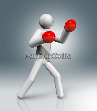 boxing 3d symbol olympic sports