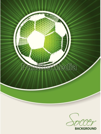 abstract soccer brochure with scribbled ball