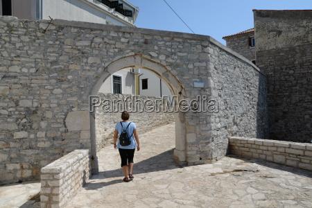 ramparts of novigrad istria croatia