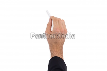 hand of a businessman writing with