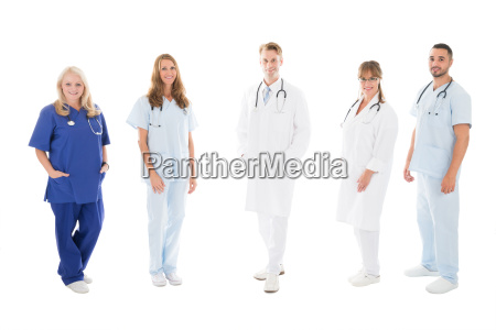 portrait of confident medical team standing