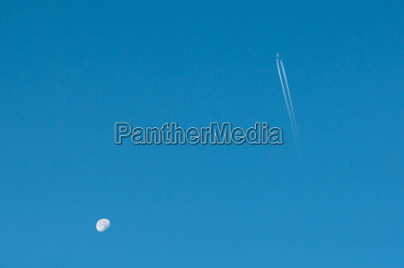 moon and airplane