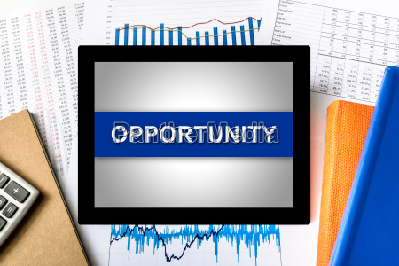 opportunity word on tablet