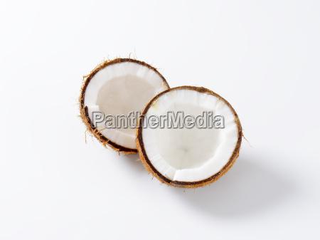 halved fresh coconut
