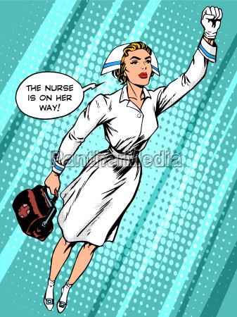 super hero nurse flies to the