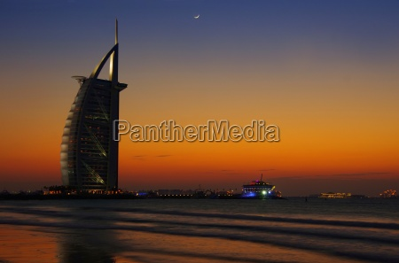 dubai burj al arab in the