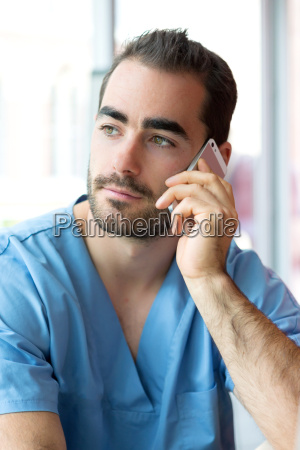 portrait of a young attractive nurse
