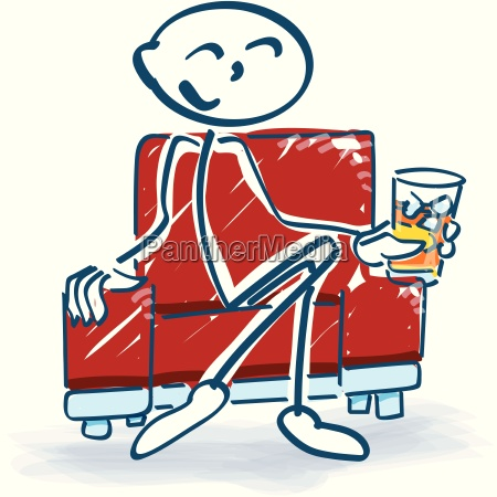 stick figure with drink in the