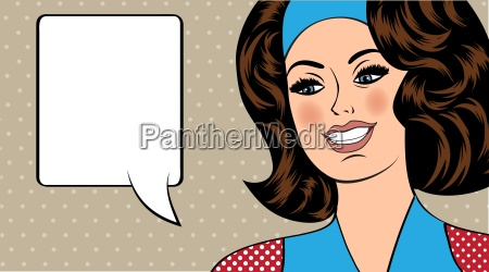 pop art illustration of girl with