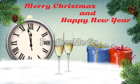 new year greeting background