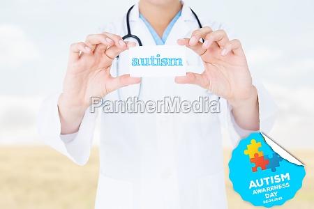 autism against bright brown landscape