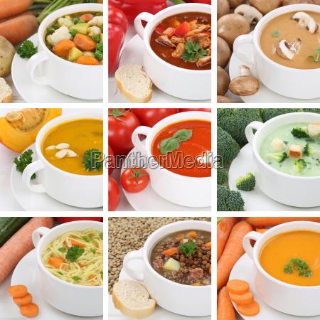 collage soup soups tomato soup vegetables