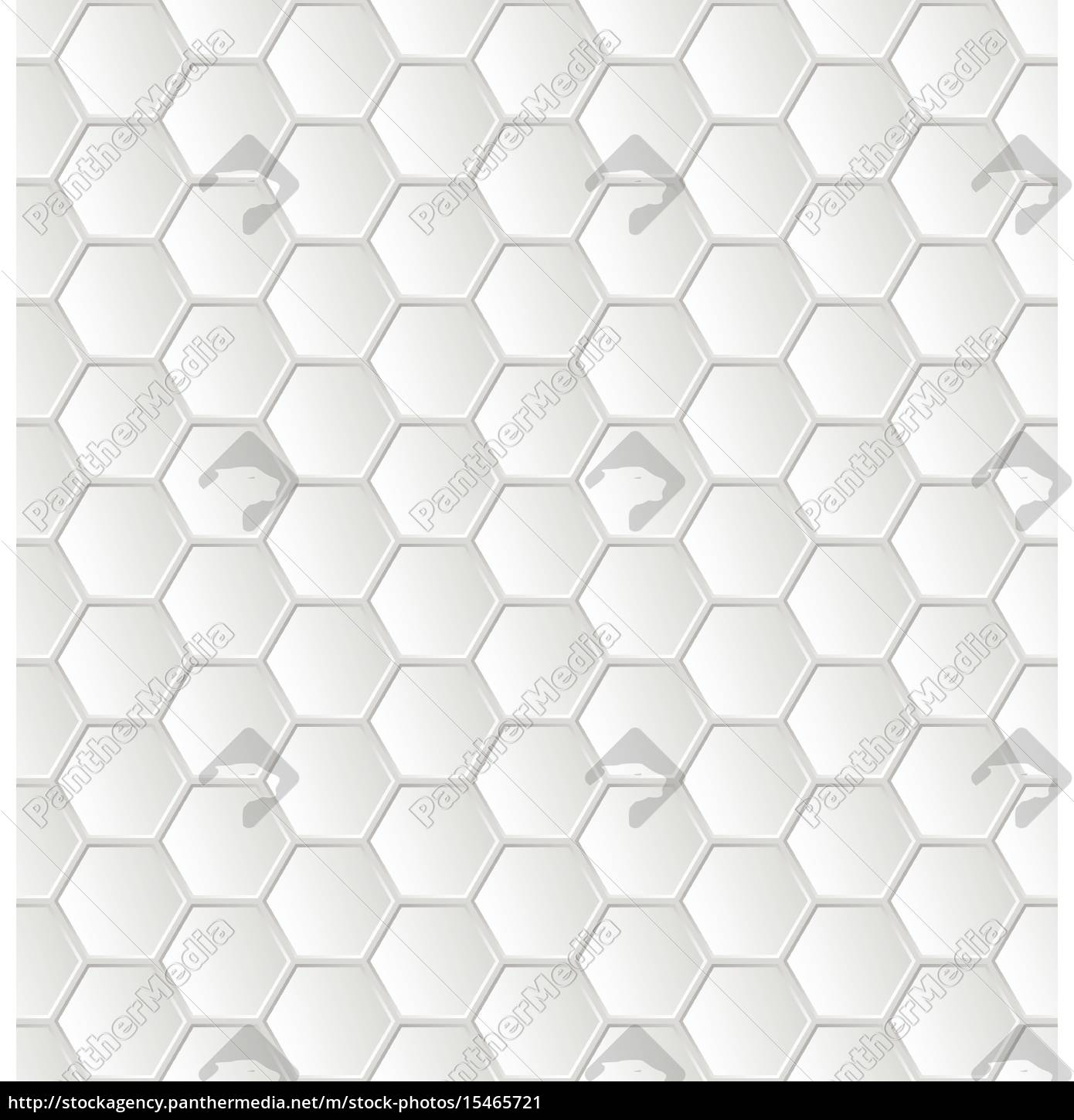 Royalty Free Vector 15465721 Abstract White Hexagon Pattern Wallpaper