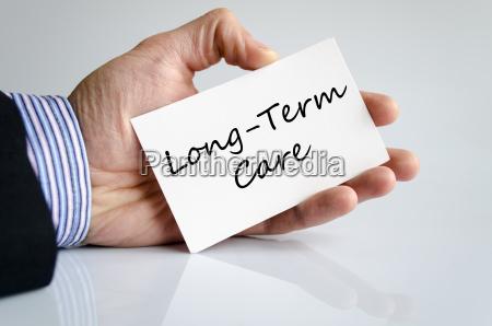 long term care text concept