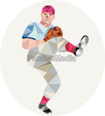 baseball pitcher outfielder throw leg up