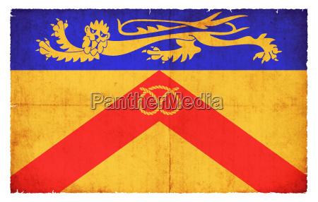 grunge flag of staffordshire uk