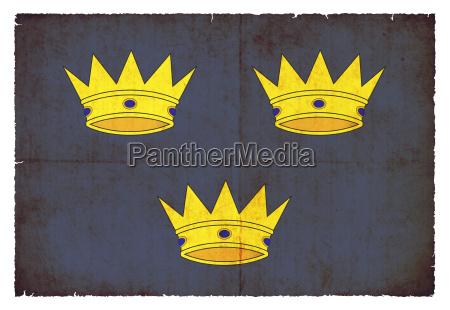 grunge flag of munster ireland