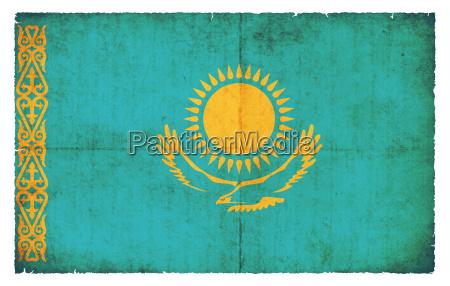grunge flag kazakhstan