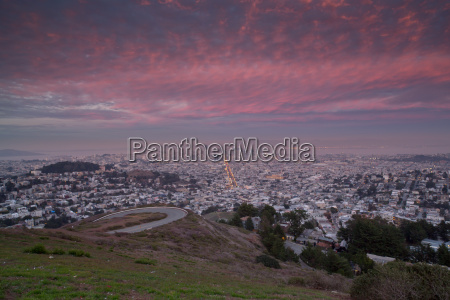 twin peaks san francisco sunset