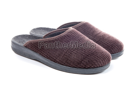 pair of slippers isolated on a