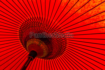 japanese red umbrella