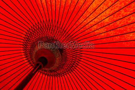 traditional japanese red umbrella